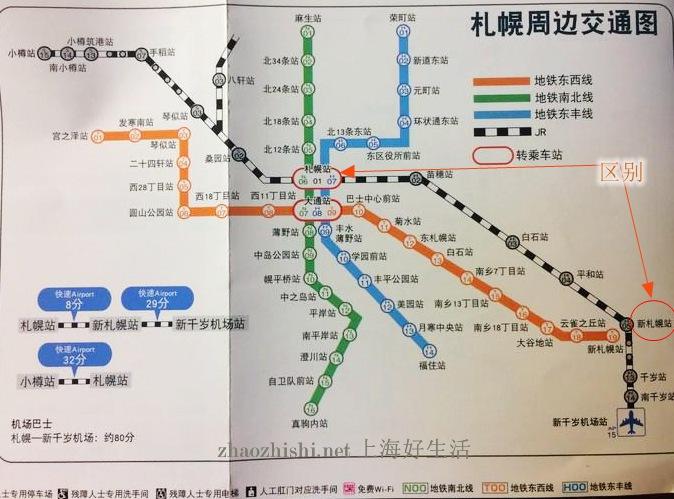 新札幌,札幌,区别